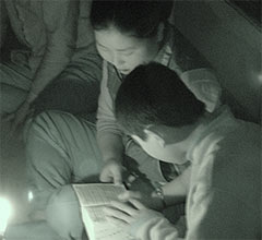 Reading in the dark